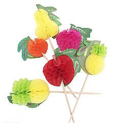 Коктейльные шпажки с фруктами 25 штук