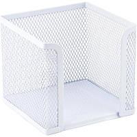Куб для бумаги Axent 100х100x100мм метал.,белый 2112-21-a