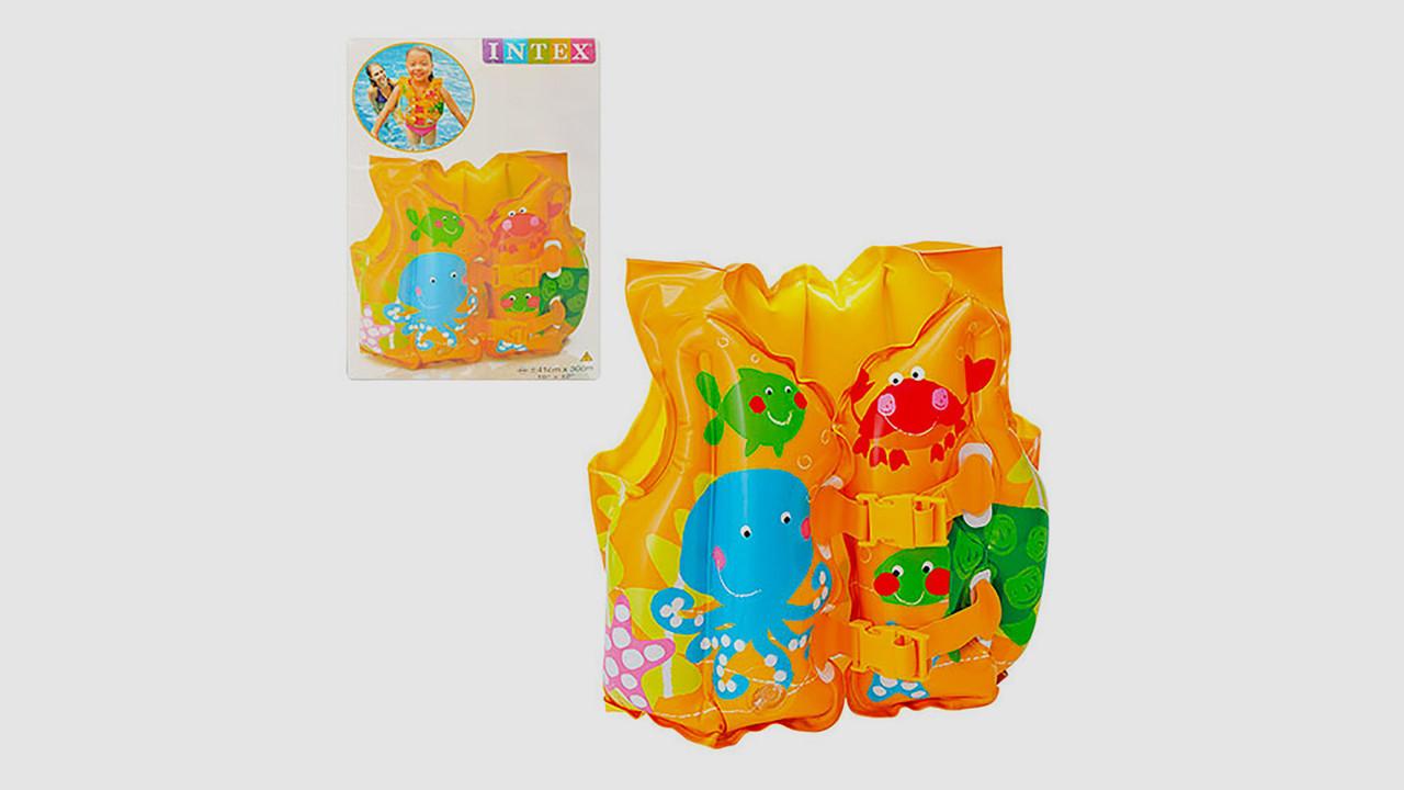 Детский надувной жилет. Рыбки INTEX 59661
