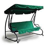 Садовая качеля - диван раскладная RELAX PLUS Зеленая РАСПРОДАЖА