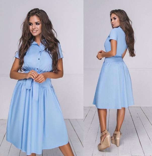 Женское летнее коттоновое платье.Размеры:42-46.+Цвета