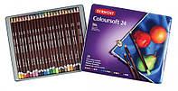 Набор цветных карандашей Coloursoft 24шт. мет коробка Derwent