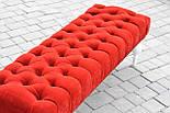 Банкетка червона з точеними ніжками, фото 2