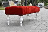 Банкетка червона з точеними ніжками, фото 4