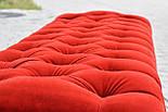 Банкетка красная с точеными ножками, фото 5