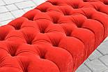 Банкетка червона з точеними ніжками, фото 7