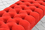 Банкетка красная с точеными ножками, фото 7
