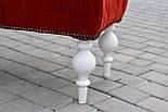 Банкетка красная с точеными ножками, фото 6