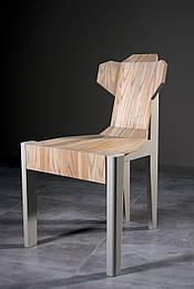 Дизайнерский стул из натурального дерева