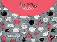 Папка-конверт на кнопці А4 ''Yoga sheeps'' Yes 491638
