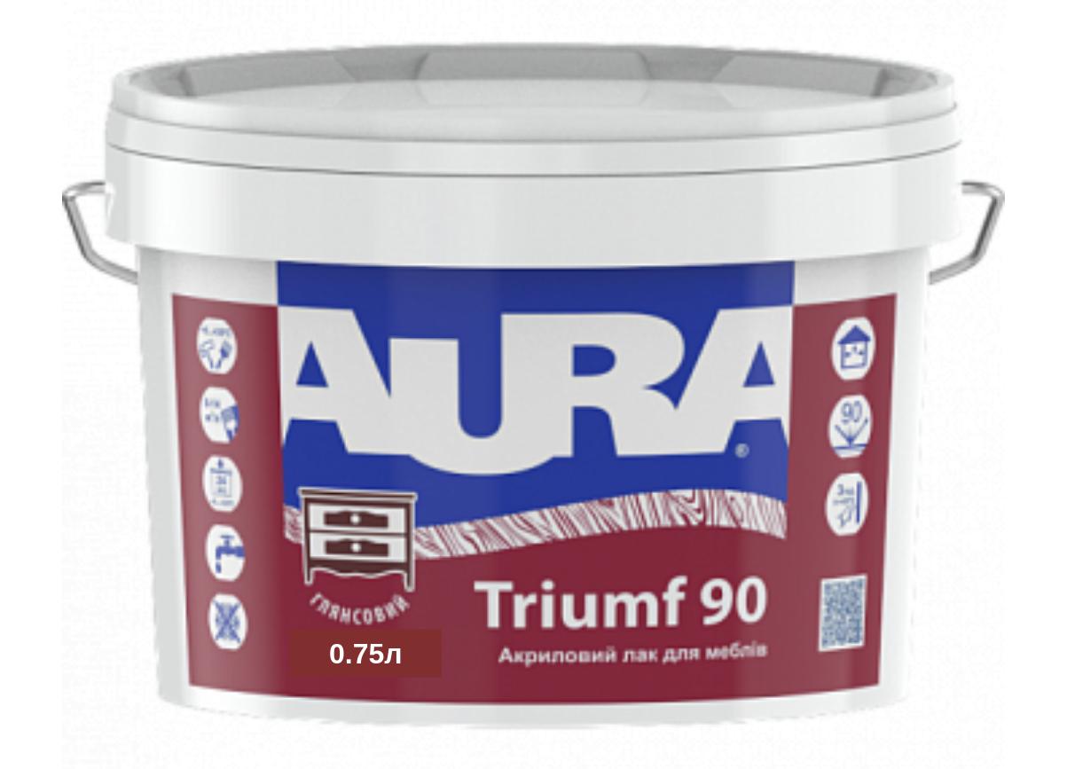Акриловый лак для мебели Aura Triumf 90 0.75л (Аура Триумф 90)