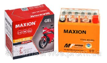 Аккумулятор мото MAXION GEL YTX 7L-BS (12V,7A)