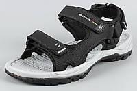 Сандалии босоножки мужские кожаные на липучке черные Bona 712D Бона Размеры 41 43 44 45, фото 1