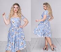 Женское летнее платье большого размера.Размеры:48-54.+Цвета, фото 1