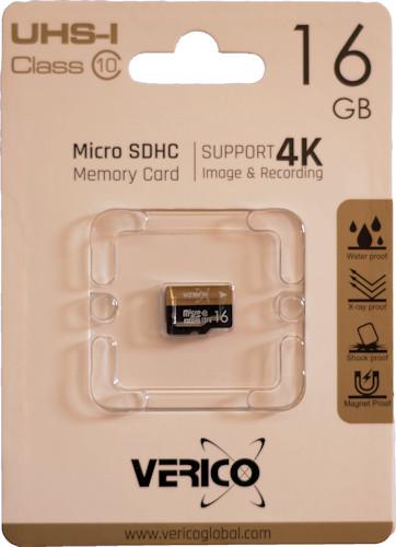 VERICO micro SDHC UHS-I Class 10 16 GB без адаптера