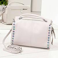 Модная женская сумочка светло-серая