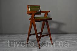 Дизайнерский барный стул из натурального дерева