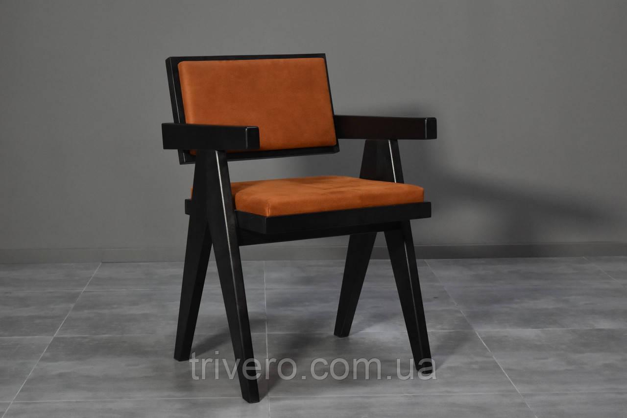 Дизайнерський стілець із натурального дерева