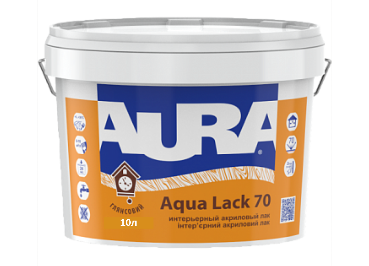 Акриловий лак Aura Aqua Lack 70 глянсовий 10л