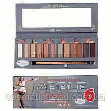 Палетка 12 теней нюдовая гамма In theBalm Apple6 Warm Love Dude Eyeshadow Palette