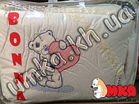 Акция Детское постельное белье Euro Вышивка Тедди с сердечком