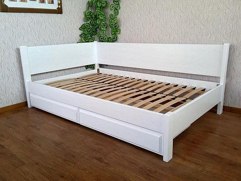 Кутова дерев'яна ліжко Шанталь