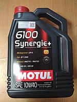 Полусинтетическое моторное масло Motul 6100 Synergie+ 10w40 5л. (VW 502.00,VW 505.00) 839451 - Франция, фото 1