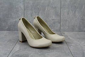 Туфли 16103 -768 (весна/осень, женские, натуральная кожа, бежевый)