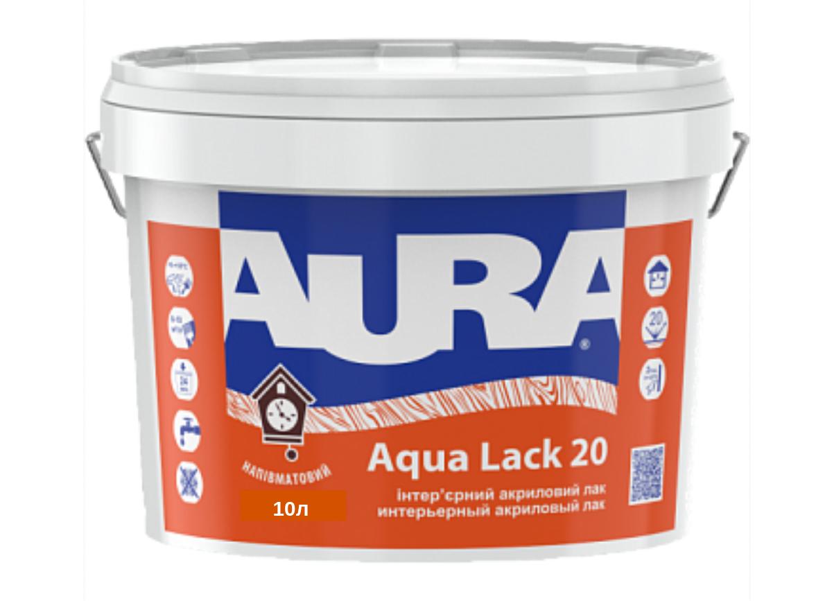 Полуматовый акриловый лак Aura Aqua Lack 20 10л