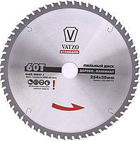 Пильный диск по ламинату и дереву VATZO 254x30x96z ,