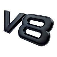3D эмблема V8 - черная, фото 1