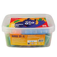 Тесто цветное Kite Jolliers для лепки 50шт ассорти цветов инструменты большое ведерко k19-138