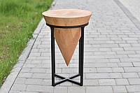 Дизайнерский табурет из натурального дерева и метала