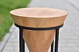 Дизайнерський стілець із натурального дерева, фото 2