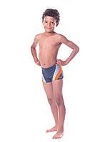 Плавки детские купальные Shepa 034 (original), трусы-боксеры для бассейна, пляжа, для мальчика, серо-оранжевый