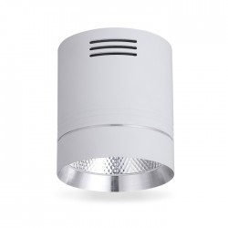 Светодиодный светильник AL542 18W белый + серебро