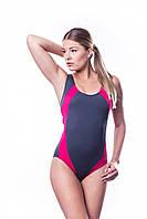 Купальник женский закрытый Shepa 009 слитный,цельный, без чашечек, спортивный для бассейна