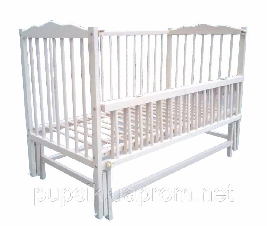 Кроватка детская Labona Мрия №4 Бук на маятнике откидная боковина