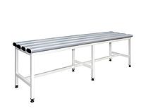 С-2000П скамейка металлическая в раздевалку приставная 1000х375хH455 с пластиковыми сидениями