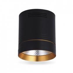 Світлодіодний світильник AL542 18W чорний + золото