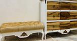 Банкетка біла для передпокою з ніжками кабріоль, фото 4