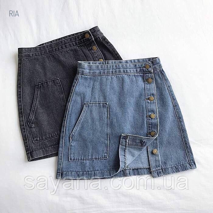 Женская джинсовая юбка в расцветках. МТ-1-0620