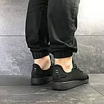 Мужские кроссовки Adidas Pharrell Williams (черные), фото 4
