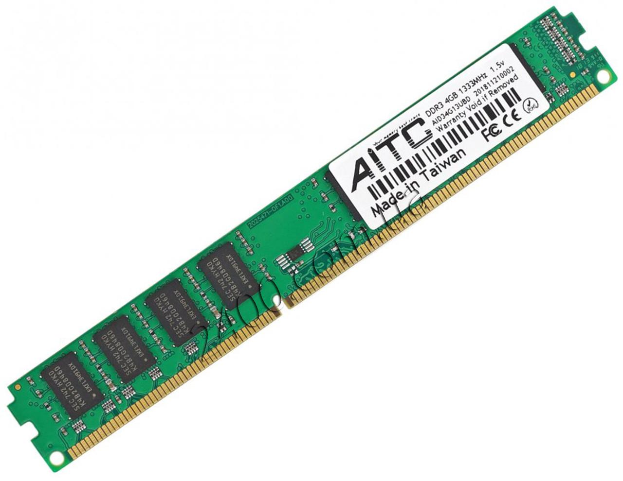 DDR3 4Gb 1333Mhz оперативная память (INTEL и AMD) универсальная PC3-10600 AITC DDR3-1333 4096MB AID34G13UB