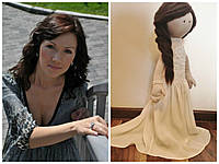 Текстильная стилизованная портретная кукла.