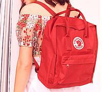 Хит! Яркий молодежный рюкзак, сумка Fjallraven Kanken Classic, канкен класик. Красный / 7102