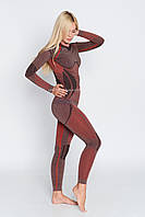 Женские термоштаны с шерстью альпаки HASTER ALPACA WOOL зональное бесшовное шерстяное термобелье SM, Красный