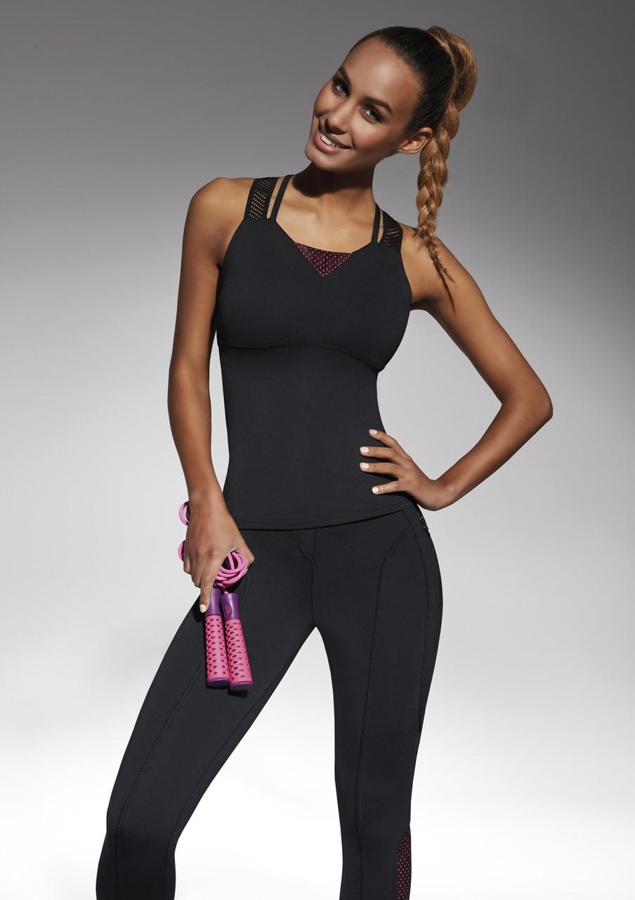 Спортивный женский топ BasBlack Inspire-top 50 (original), майка для бега, фитнеса, спортзала