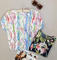 Женская блузка с яркими расцветками новинка
