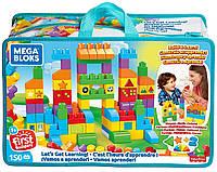 Конструктор Мега Блокс Давайте учиться 150 дет Mega Bloks Let's Get Learning Building Set FVJ49